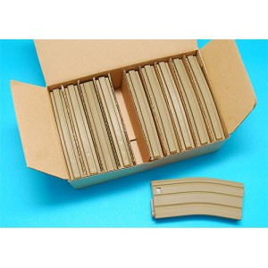 G&P Airsoft M16 Magazine (Sand) (130 Rounds) (Package) - GP094S-P for Airsoft Gun