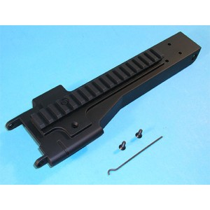 G&P Airsoft M249 Metal Feed Tray Cover with Rail - GP099B for Airsoft Gun