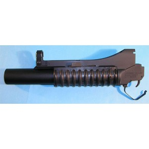 G&P Airsoft QD M203 Military Type Grenade Launcher For Marui M4 (Long) - GP238 for Airsoft Gun TM M4 / M16A2