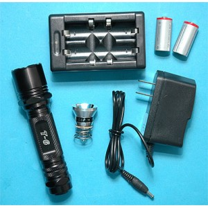 G&P Airsoft 9R Rechargeable Flashlight - GP242A for Airsoft Gun