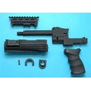 G&P Airsoft AK47 Tactical Front Set with Grip (Black) - GP468
