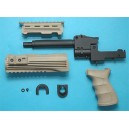 G&P Airsoft AK47 Tactical Front Set with Grip (Sand) - GP468C