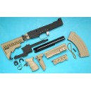 G&P Airsoft AK Tactical Conversion Kit (Extended Stock)(Sand) - GP585S