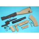 G&P Airsoft AK Tactical Conversion Kit (Fix Stock)(Sand) - GP586S