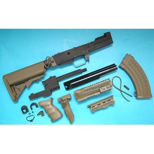 G&P Airsoft AK Tactical Conversion Kit (Extended Battery Stock)(OD) - GP587O