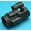G&P Airsoft Military Type 30mm Red Dot Sight Cover (Black) - GP607B for Airsoft Gun