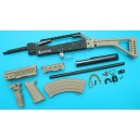 G&P Airsoft AK Special Forces 100M Conversion Kit (Folding Stock)(Sand) - GP687S