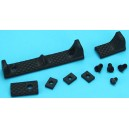 G&P URX III Rail Cover w/Finger Stop (Black) GP-COP052A for Airsoft