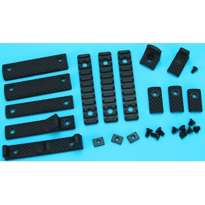 G&P URX III Rail Cover w/Finger Stop Set B (Black) GP-COP052B for Airsoft