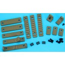 G&P URX III Rail Cover w/Finger Stop Set B (Sand) GP-COP053B for Airsoft