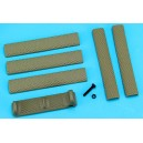 G&P Handguard Finger Stop Set B (Sand) GP-COP055B for Airsoft